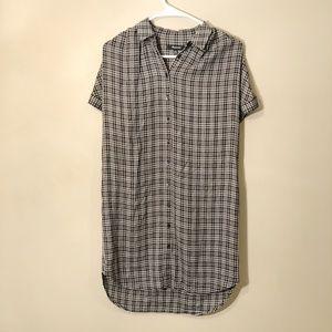 Madewell | Courier Plaid Button Down Dress Sz XS